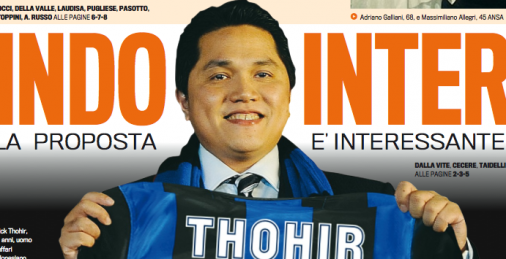120 MILIONI ALL'INTER DA THOHIR, INIZIA L'ERA INDONESIANA