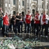 INCIDENTI A PIAZZA DUOMO TRA POLIZIA E TIFOSI DELL'ARSENAL